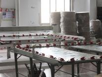 Corner of warehouse materials
